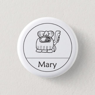 Mary in Mayan Knoop Ronde Button 3,2 Cm