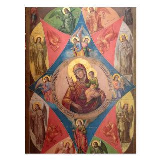 Mary, Jesus, en Engelen Briefkaart