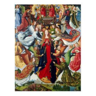 Mary, Koningin van Hemel, c. 1485 - 1500 Briefkaart