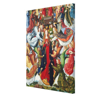 Mary, Koningin van Hemel, c. 1485 - 1500 Canvas Afdruk