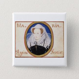 Mary Koningin van Scots (1542-87) (gouache op Vierkante Button 5,1 Cm