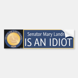Mary Landrieu Bumpersticker