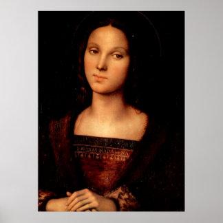 Mary Magdalene door Perugino Poster