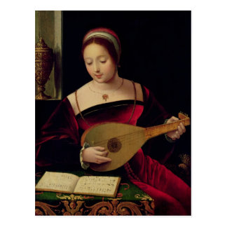 Mary Magdalene Playing de Luit Briefkaart