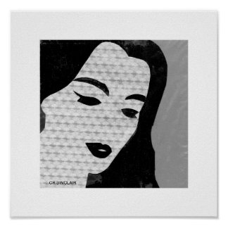 Mary MODERN (grijs) door Cr SINCLAIR Poster