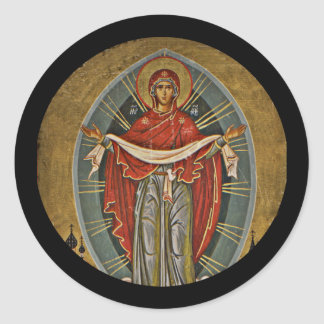 Mary Protector Theotokos Ronde Sticker