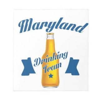 Maryland die team drink notitieblok