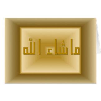 Masha Allah Card Kaart