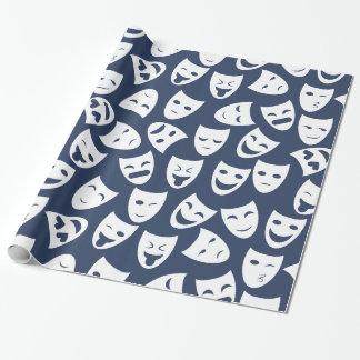 Masker met het Verschillende Patroon van Emoties Inpakpapier