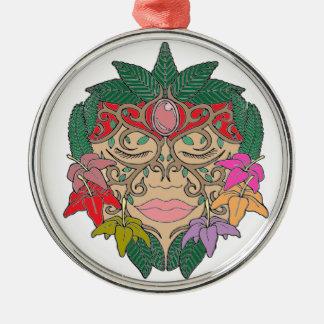 Masker Zilverkleurig Rond Ornament