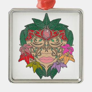 Masker Zilverkleurig Vierkant Ornament