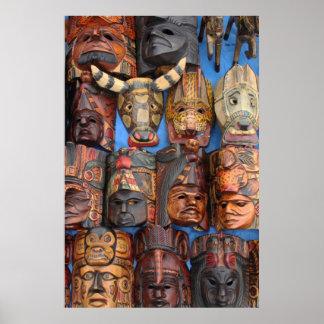 Maskers, Guatemala Poster
