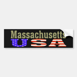 Massachusetts de V.S.! De Sticker van de bumper Bumpersticker