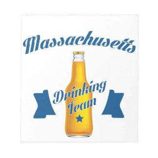 Massachusetts die team drink kladblok