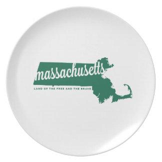 Massachusetts | land van vrije groene | bord