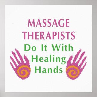 Massage Therapists Do It With het Helen handen Plaat