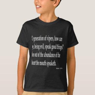 Mat. 12:34, B T Shirt