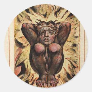 Materiaal van de Kunst van William Blake het First Ronde Stickers