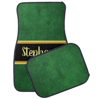 Materiële stof van de mooie monogram de groene auto vloermat