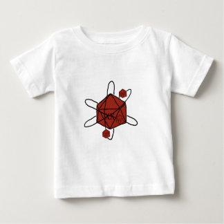 Matrijs-atoom (Rode Zwarte,) Baby T Shirts