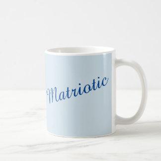 """""""Matriotic"""" in blauw Koffiemok"""