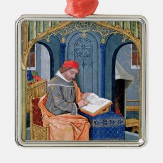 Matthaeus Platearius Zilverkleurig Vierkant Ornament