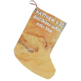Matthew 8: 20 kleine kerstsok