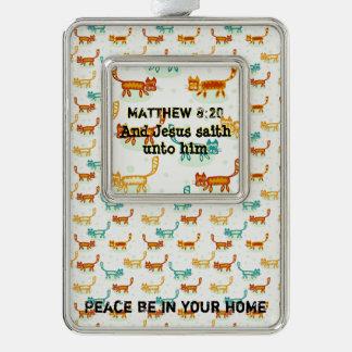 Matthew 8: 20 ml verzilverd omlijst ornament