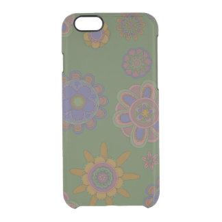 Mauve & Gouden Bloemen Doorzichtig iPhone 6/6S Hoesje
