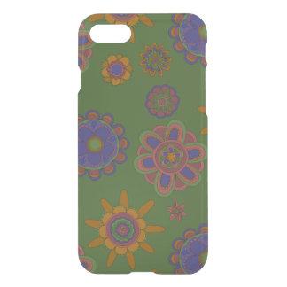 Mauve & Gouden Bloemen iPhone 7 Hoesje