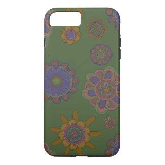 Mauve & Gouden Bloemen iPhone 8/7 Plus Hoesje
