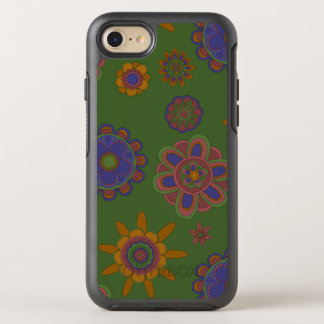 Mauve & Gouden Bloemen OtterBox Symmetry iPhone 8/7 Hoesje