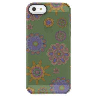Mauve & Gouden Bloemen Permafrost iPhone SE/5/5s Hoesje
