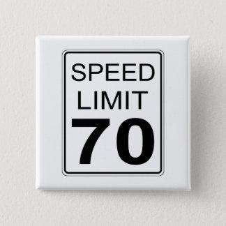 Maximum snelheid vierkante button 5,1 cm