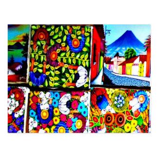 Mayan folkloristische briefkaart van