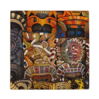 Mayan Houten Maskers in Mexico Houten Onderzetter