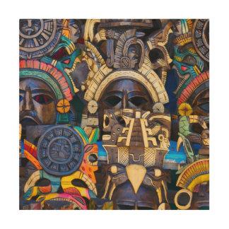 Mayan Houten Maskers voor Verkoop Hout Afdruk