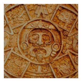 Mayan Kalender van de God Poster
