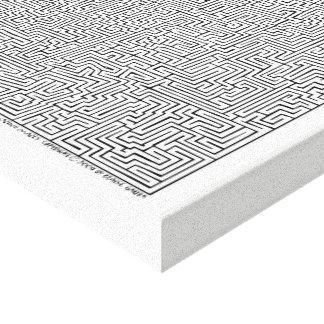 Mayan Kunst van het Labyrint van I door Blaise Canvas Afdruk