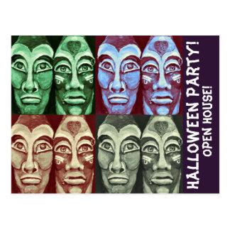 Mayan Partij RSVP van Halloween Briefkaart