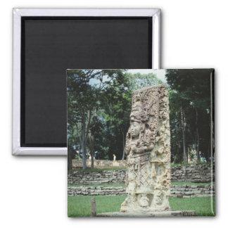 Mayan ruïneert Foto Ontworpen Vierkante Kleur Magneet