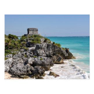 Mayan Ruïnes in Tulum Mexico Briefkaart
