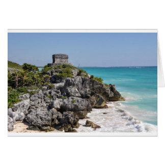 Mayan Ruïnes in Tulum Mexico Briefkaarten 0
