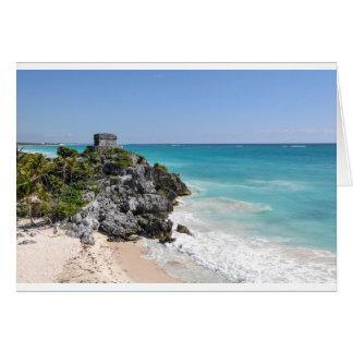 Mayan Ruïnes in Tulum Mexico Kaart