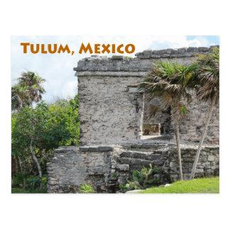 Mayan Ruïnes Quintana Roo Mexico van Tulum Briefkaart