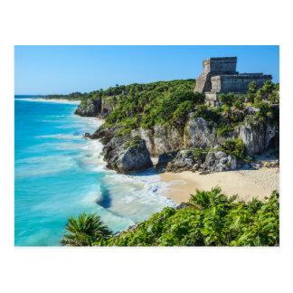Mayan Ruïnes van Tulum Briefkaart