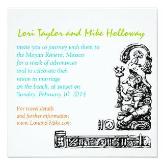 Mayan Uitnodiging van het Huwelijk van het Strand