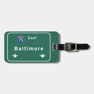Md van Baltimore Maryland Snelweg de Tusen staten Bagagelabel