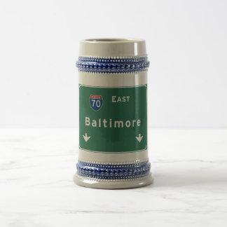 Md van Baltimore Maryland Snelweg de Tusen staten Bierpul