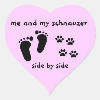 Me en Mijn Schnauzer Hart Sticker